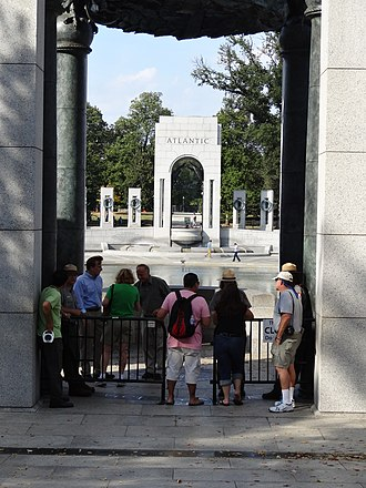 2013 United States federal government shutdown - Some visitors were granted entry to the World War II Memorial on Sunday, October 6.