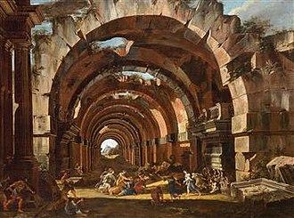 Viviano Codazzi - Arches in ruins and Hecuba's vengeance over Polymestor