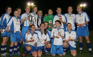 Guiseley A.F.C. Vixens - The Vixens winning the County Cup, 2007