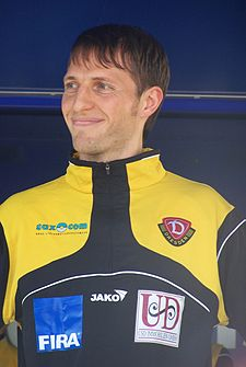 Volker Oppitz was a key player in Dynamo's rise from the Oberliga to the 2. Bundesliga Volker Oppitz.JPG