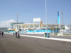 Panthessaliko Stadium - Image: Volos, Greece stadium at 2004 Olympic Games