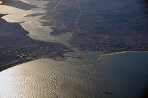 Bizerte - Aerial view of Bizerte (October 2008)