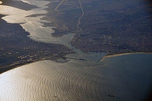 Vue aérienne de Bizerte