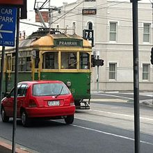 W-class tram in Glenhuntly road.jpg