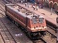 WAP 7 engine at Kharagpur station.JPG