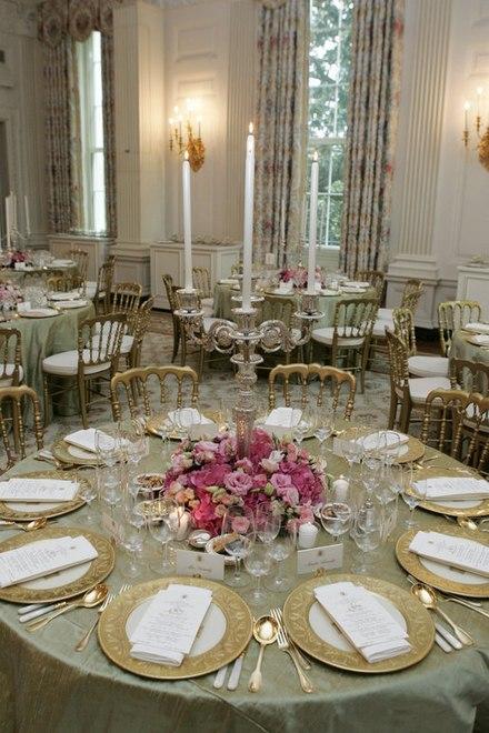 dressage des tables pour un dner dtat la maison blanche trop - Dressage De Table A La Francaise