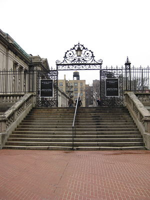 The Kremlin Letter - This entrance gate of the Hispanic Society of America in New York was used for a location shot (Rone and B.A. walking into the Tillenger Foundation) and in this 2008 photograph, still looks much like it did in the film almost forty years earlier.