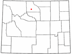 Location of Basin, Wyoming