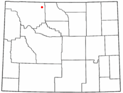 Location of Powell, Wyoming