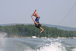 wakeboarding, Smith Mountain Lake, Virginie, USA