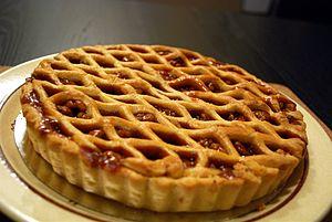 Walnut pie - Image: Walnut Tart Aviv (4713854055)