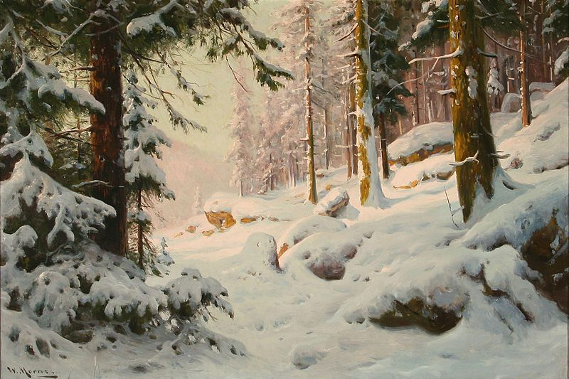 File:Walter Moras - Waldszene zur Winterszeit.jpg