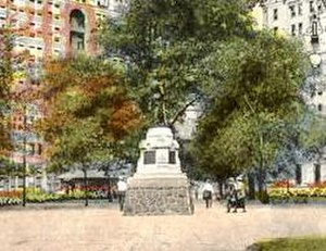 Washington Square (Philadelphia) - Washington Grays Monument at Washington Square (location from 1908-1954)