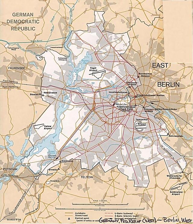 West Berlin Wikiwand - Berlin map east west