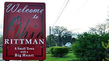 Rittman, Ohio City Limits Sign.