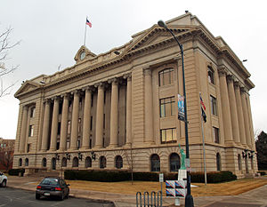English: The Weld County Court House in Greele...