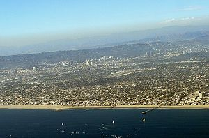 Westside (Los Angeles County) - The Westside as seen by aircraft departing Los Angeles International Airport