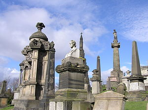 Glasgow Necropolis - Monuments on the summit of the Glasgow Necropolis hill