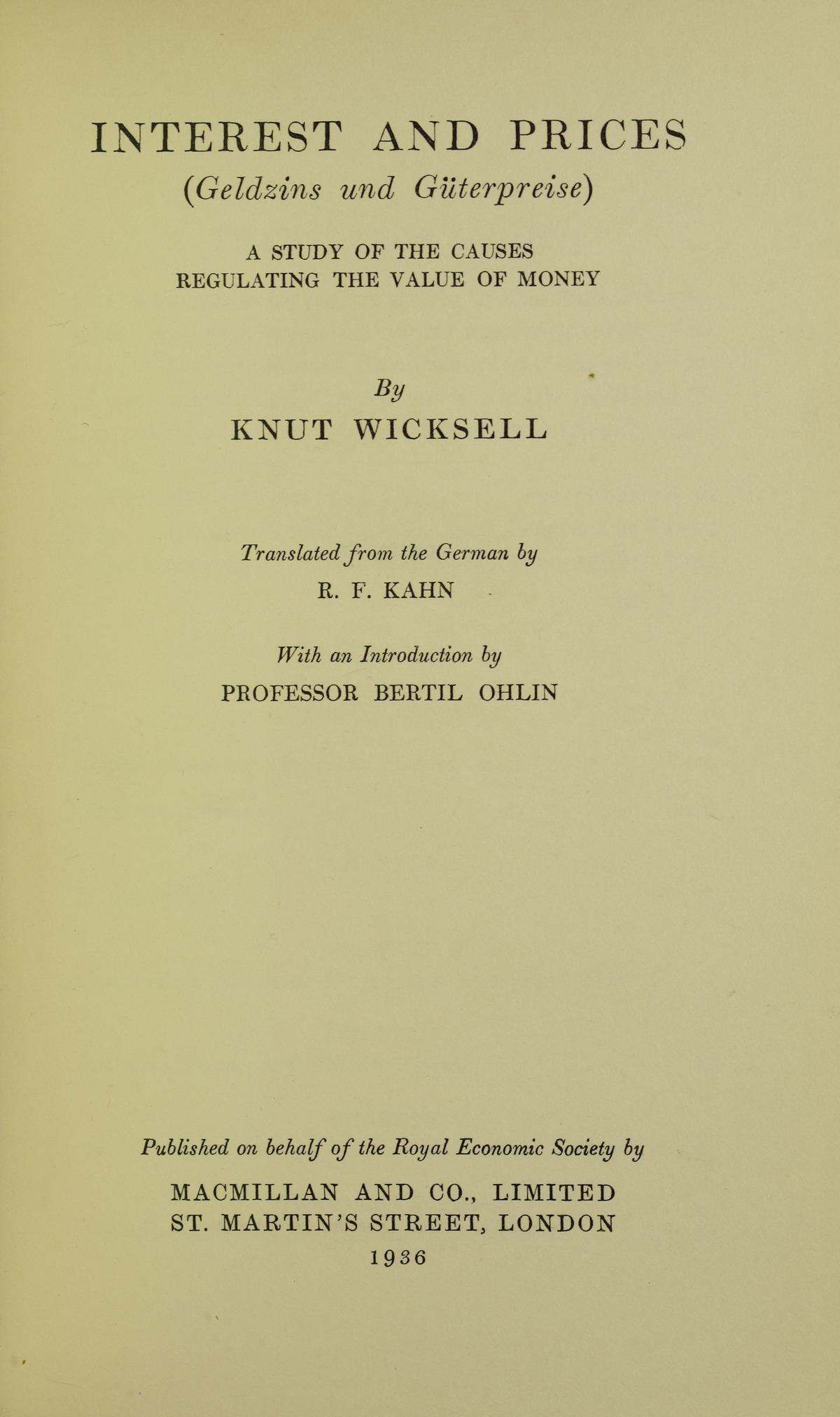ユーハン・グスタフ・クヌート・ヴィクセル( Johan Gustaf Knut Wicksell 、年 12月20日 - 年 5月3日)は、スウェーデンの経済学者。.