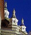 Wieżyczki kościoła lloret del mar.JPG