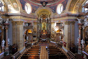 St. Peter's Church, Vienna - Image: Wien Peterskirche, Innenansicht