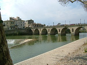 Sommières - Vidourle and the Roman Bridge