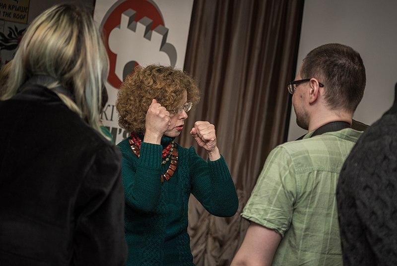 Наталія Шестакова показує, що станеться з оргкомітетом, якщо він не врахує побажання журі, готуючи конкурс 2019 року ;)