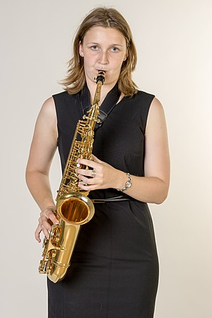 Alto saxophone - Image: Wiki loves Music Hamburg 5488