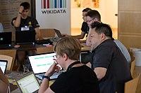 Wikimedia Hackathon Vienna 2017-05-19 Hacking Gurkerl 007.jpg