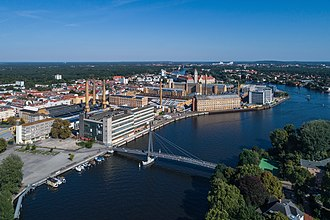Oberschöneweide - Industrial buildings over the Spree river
