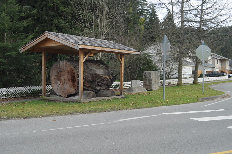 File:Wilkeson, WA big log 01.jpg