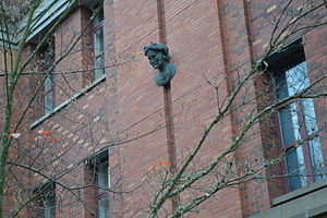 Marie Curie Gargoyle - The sculpture in 2011