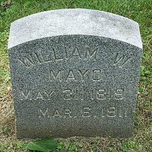 William Worrall Mayo - Gravestone of William Worrall Mayo