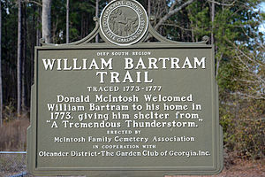 William Bartram - William Bartram Trail marker in McIntosh County, Georgia, USA