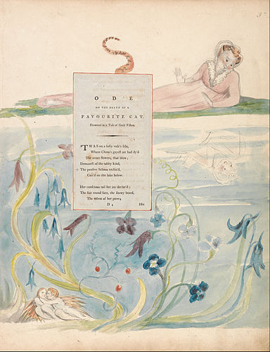 "William Blake - The Poems of Thomas Gray, Design 9, ""Ode on the Death of a Favourite Cat."" - Google Art Project.jpg"