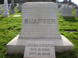 William Rufus Shafter - Shafter's headstone at San Francisco National Cemetery