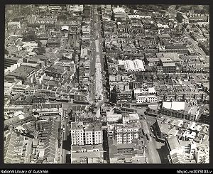 Kings Cross, New South Wales - William Street and Kings Cross from the air in the 1950s