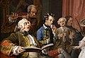 William hogarth, marriage a-la-mode, 1743 ca., 04 la toeletta, 2.jpg