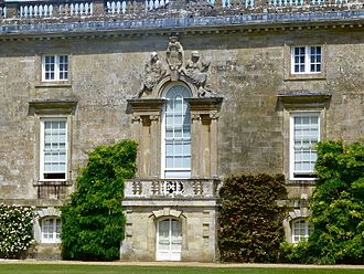 Venetian window - A Venetian window, with blind sides, designed by Isaac de Caus (d.1648) circa 1647, south front of Wilton House, Wiltshire, England