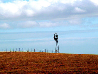 Agriculture in South Africa - A windpump on a farm in South Africa.