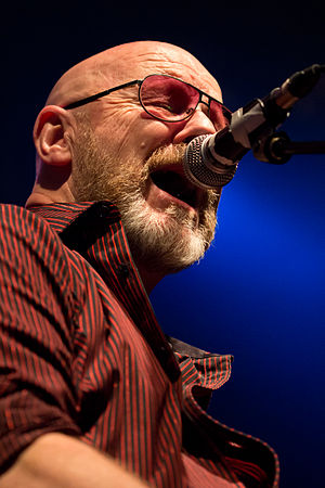 Andy Powell - Powell on stage with Wishbone Ash in May 2015