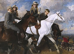 Charles Wellington Furse - With the York and Ainsty - The Children of Mr Edward Lycett Green, 1905