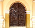 Wooden works of Aana Vathil (Main Door) of Thumpamon Valiya Pally.jpg