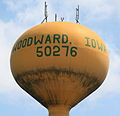Woodward Iowa 20090607 Water Tower Closeup.JPG