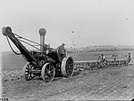 Workers operating seed drills and Fowler traction (5570738868).jpg