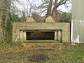 World War II field artillery emplacement, west end of Waverley Mill Bridge 01.jpg