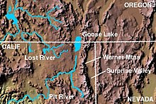 Map Of The Area Goose Lake