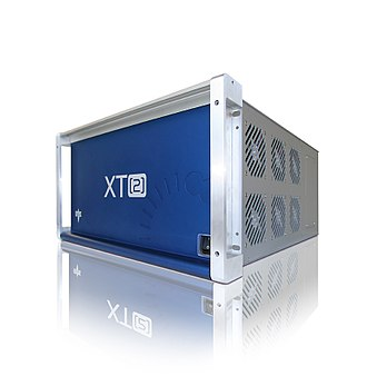 Video server - A video replay server, commonly used to provide instant replay in broadcasts of sporting events (EVS XT2)