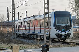 Xiamen Rail Transit train at Circular Railway (20170328164407).jpg