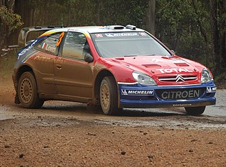2004 Rally Australia - Sébastien Loeb during one of the special stages.